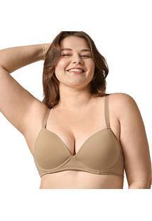 Sutiã Bonjour Plus Size Com Bojo Sustentação - Feminino-Bege