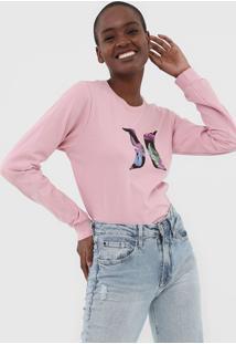 Camiseta Hurley M/L Icon Rosa
