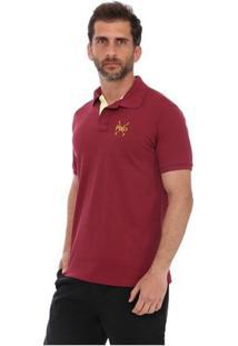 Camisa Polo England Polo Club Casual Taco - Masculino-Vinho