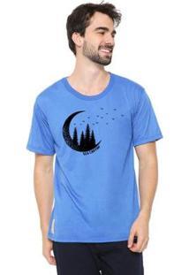 Camiseta Talismã Store Eco Canyon Lua Masculina - Masculino-Azul