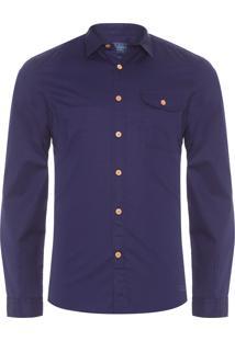Camisa Masculina Índigo Bélgica - Azul