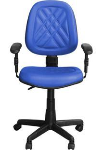 Cadeira Pethiflex Ce-02Gpbt Giratória Couro Azul