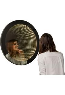 Espelho Decorativo Infinito 70 Cm Preto