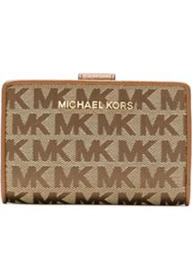 Michael Michael Kors Carteira Jet Set Com Zíper - Marrom
