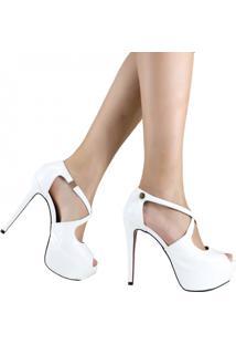 Sandália Zariff Shoes Meia Pata Noivas Branco