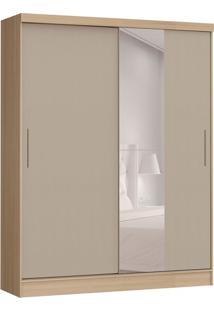 Guarda-Roupa Solteiro Com Espelho Soleil 2 Pt 2 Gv Nogueira E Gris