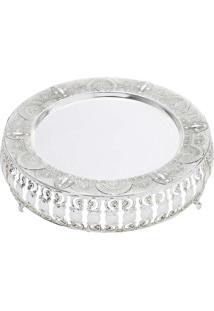 Bandeja Ametista Silver Plated - Lyor Classic Prata