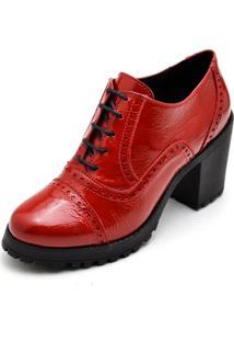 Bota Trivalle Ankle Boot Vermelha