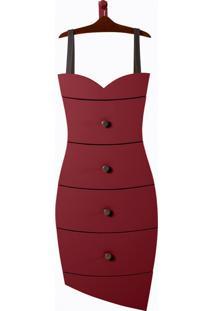 Cômoda Dress Vermelho Escuro Laca M49