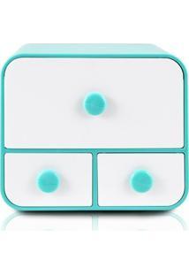 Caixa Organizadora Com 4 Gavetas Jacki Design - Unissex-Azul