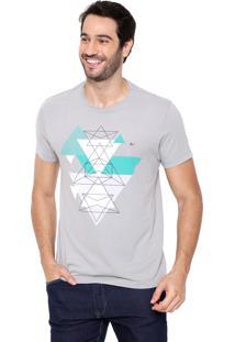 Camiseta Aramis Triângulos Cinza