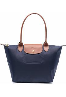 Longchamp Bolsa Tiracolo Le Pilage Pequena - Azul