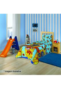 Edredom Dupla Face Patrulha Canina® Solteiro- Azul Clarolepper