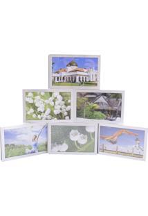 Porta Retrato Minas De Presentes Articulado De Alumínio 6 Fotos 10X15Cm Branco