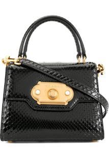 Dolce & Gabbana Bolsa Tiracolo Welcome Mini - Preto