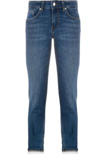 Liu Jo Calça Jeans Slim Cropped - Azul