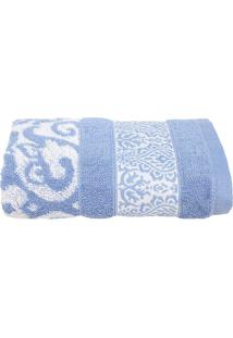 Toalha De Rosto Santista Unique Madani Azul