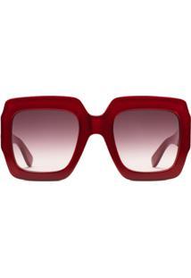 Gucci Eyewear Óculos De Sol Quadrado - Vermelho