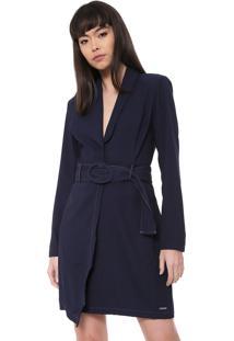 Vestido Colcci Curto Com Cinto Azul-Marinho