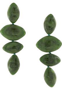 Cult Gaia Par De Brincos Com Pingentes - Verde