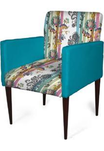 Cadeira Decorativa Sala Mademoiselle Plus Imp Digital 113