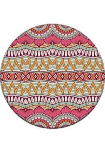 Tapete Love Decor Redondo Wevans Mandala Abstrato Rosa 94Cm
