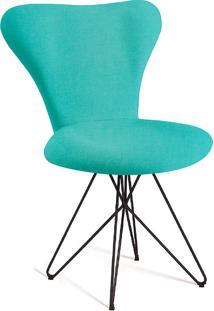 Cadeira Jacobsen Butterfly T1130-Daf Mobiliário - Azul Turquesa
