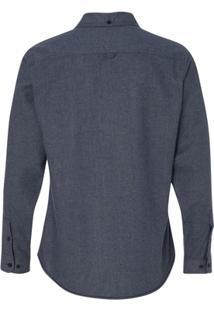Camisa Blanks Co Flanela 8200 Charcoal Masculina - Masculino-Marinho