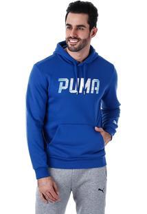 Blusa Masculina Puma Rebel Hoody - Azul