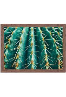 Quadro Decorativo Cacto Verde Madeira - Grande