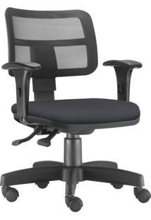 Cadeira Giratória Executiva Lyam Decor Zip Corino Preto