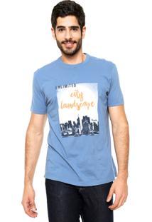 Camiseta Wrangler Kendall Azul