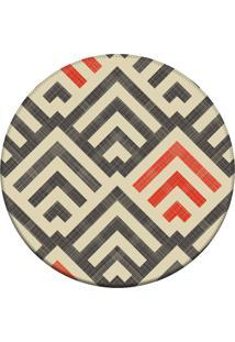 Tapete Love Decor Redondo Wevans Amazing Multicolorido 94Cm