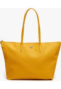 Bolsa Lacoste Em Couro Amarelo