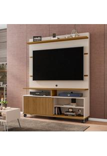 Estante Para Home Theater E Tv Até 52 Polegadas Pérola Off White Cinamomo