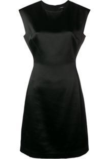 Theory Fitted Midi Dress - Preto