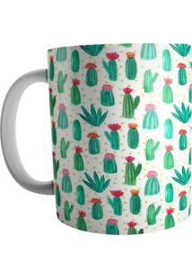 Caneca Live Cactus Verde Branca
