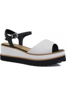 Sandália Zariff Shoes Plataforma Tratorado