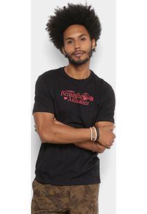 Camiseta Cavalera Estampada Masculina - Masculino-Preto