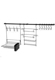 Organizador De Cozinha Arthi Kit 9 De Aço Cook Home