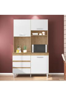Cozinha Compacta Smart 3 Pt 3 Gv Marrom Claro E Branca