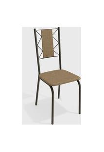 Cadeira Lisboa Bronze/Cappuccino (Par) Kappesberg