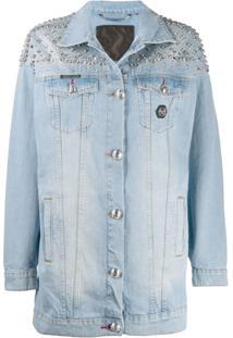 Philipp Plein Jaqueta Jeans Oversized - Azul