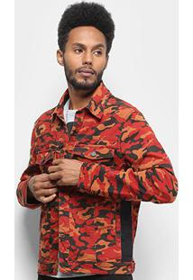 Jaqueta Ellus 2Nd Floor Camouflage Color (American) Faixa Lateral Masculina - Masculino