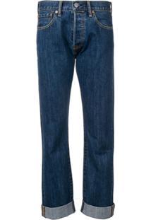 Burberry Calça Jeans Reta - Azul