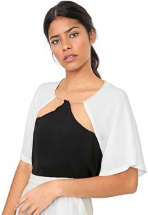 Camiseta Forum Recortes Preta/Branca