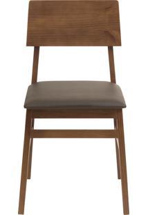 Cadeira Filomena - Marrom Com Base Amãªndoa