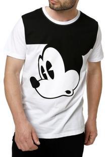 Camiseta Manga Curta Masculina Disney Branco