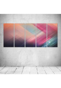 Quadro Decorativo - Texture - Composto De 5 Quadros - Multicolorido - Dafiti