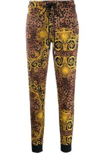 Versace Jeans Couture Calça Esportiva Com Animal Print - Preto